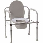 Folding Steel Commode DR1148
