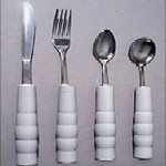 Weighted Eating Utensils with Contoured Handles KE11540