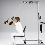 Counter Balance sling arm provides functional assistance during muscle re-education.