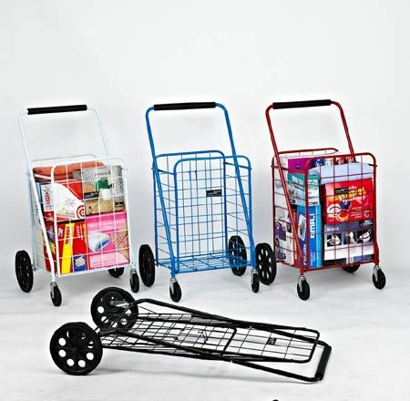 Hefty Swiveler Folding Shopping Cart NT016
