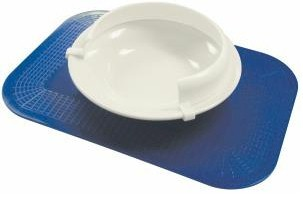 No Slip Melamine Scoop Dish with Bumper PA173