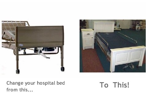Wooden Slip Covers for Homecare Hospital  Beds TC601